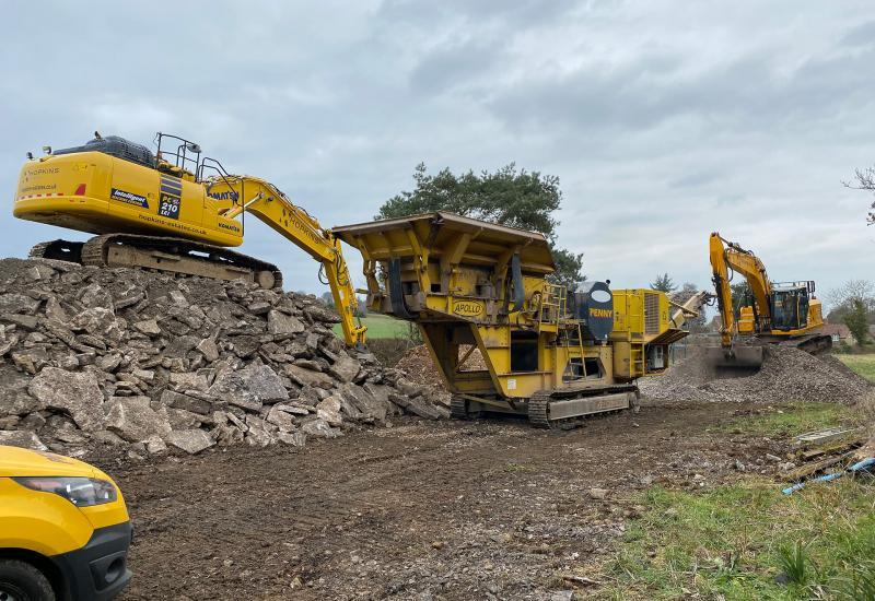 work starts on preparing the Granary, Blackford, for development.